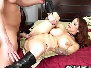 Alyssa Lynn In Black-haired Alyssa Fucking Live - Wildoncam