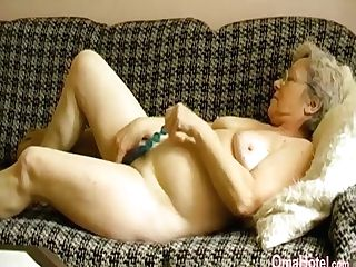 Omahotel Horny Granny Frolicking Her Hairy Labia