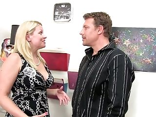 Middle Elderly Blonde Zoey Tyler Gives Her Head And Provides Her...